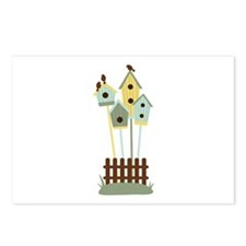Bird houses Postcards (Package of 8)