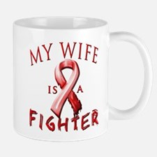 My Wife Is A Fighter Red Mugs
