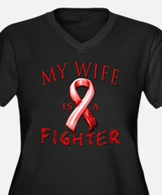 My Wife Is A Fighter Red Plus Size T-Shirt
