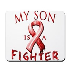 My Son Is A Fighter Red Mousepad