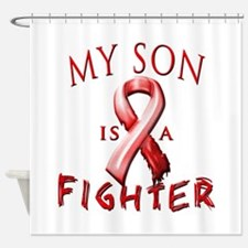 My Son Is A Fighter Red Shower Curtain