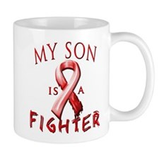 My Son Is A Fighter Red Mugs