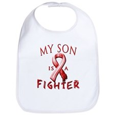My Son Is A Fighter Red Bib