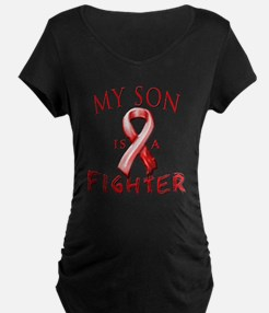My Son Is A Fighter Red Maternity T-Shirt