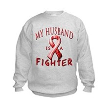 My Husband Is A Fighter Red Sweatshirt