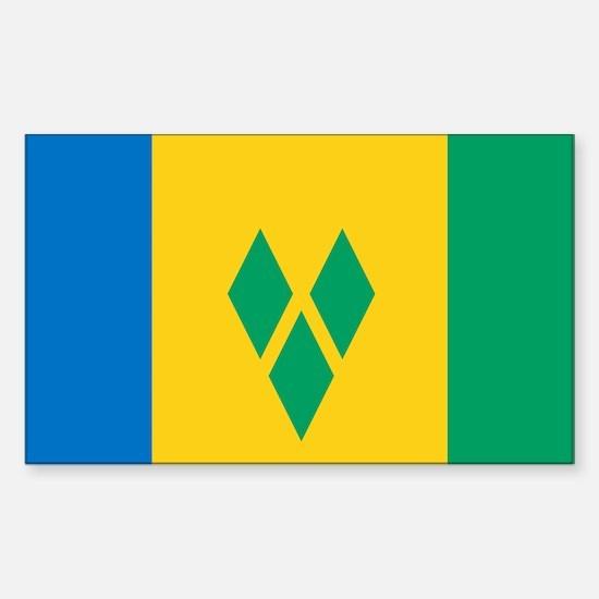 St Vincent Grenadines Flag Sticker (Rectangle)