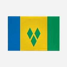 St Vincent Grenadines Flag Rectangle Magnet