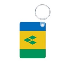 St Vincent Grenadines Flag Aluminum Photo Keychain