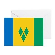 St Vincent Grenadines Flag Greeting Card