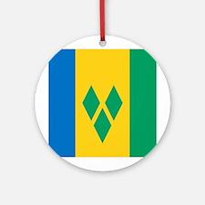 St Vincent Grenadines Flag Ornament (Round)