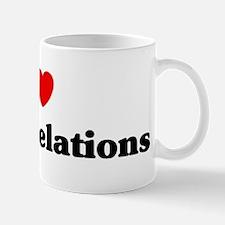 I Love public relations Mug