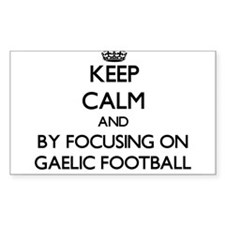 Keep calm by focusing on Gaelic Football Stickers