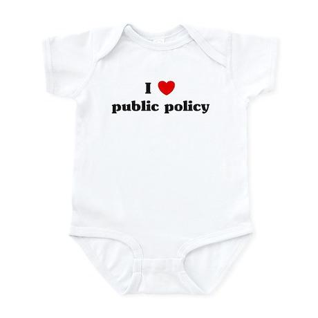 I Love public policy Infant Bodysuit