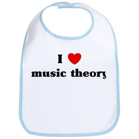 I Love music theory Bib