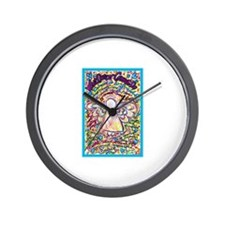 Spring Heart Cancer Angel Wall Clock