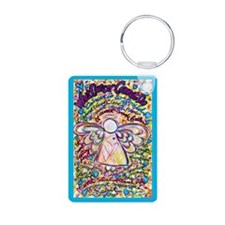 Spring Heart Cancer Angel Keychains