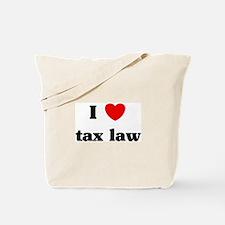 I Love tax law Tote Bag