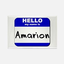 hello my name is amarion Rectangle Magnet