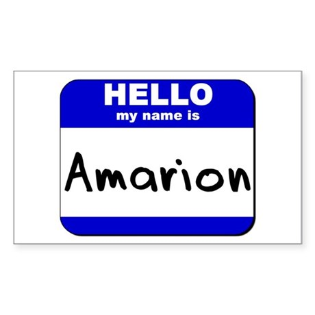 hello my name is amarion Rectangle Sticker