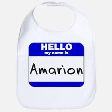 hello my name is amarion  Bib