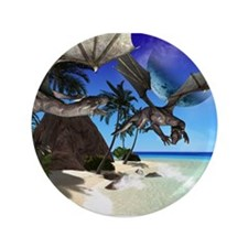 "the island of the dragon 3.5"" Button"