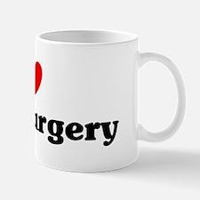 I Love neurosurgery Small Small Mug