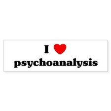 I Love psychoanalysis Bumper Bumper Sticker