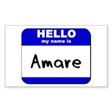 hello my name is amare Rectangle Decal
