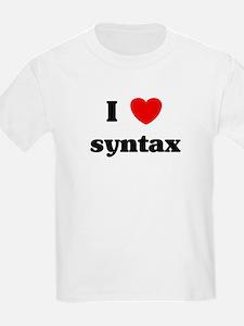 I Love syntax T-Shirt