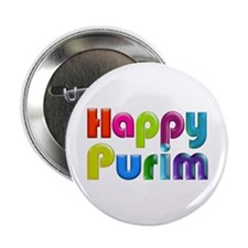"Happy Purim 2.25"" Button"