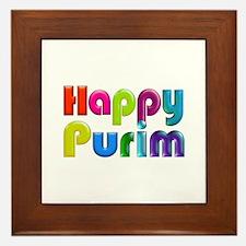 Happy Purim Framed Tile