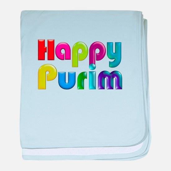 Happy Purim baby blanket