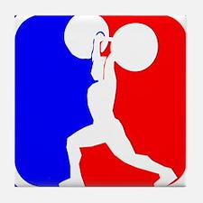 Weightlifting League Logo Tile Coaster
