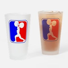 Weightlifting League Logo Drinking Glass