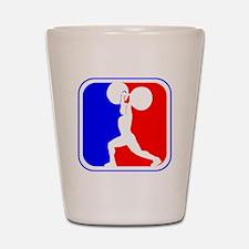 Weightlifting League Logo Shot Glass