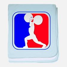 Weightlifting League Logo baby blanket