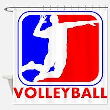 Volleyball League Logo Shower Curtain