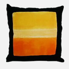 Yellow Orange Rothko Throw Pillow