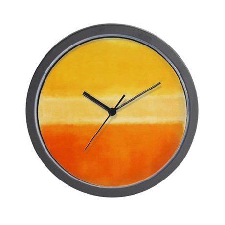 yellow orange rothko wall clock by thingscollectable