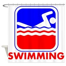 Swimming League Logo Shower Curtain