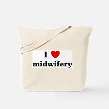 I Love midwifery Tote Bag