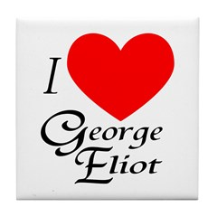 I Love George Eliot Tile Coaster