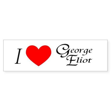 I Love George Eliot Bumper Sticker