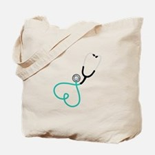 Heart Stethoscope Tote Bag
