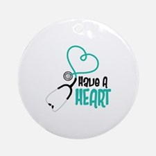 Have A Heart Ornament (Round)