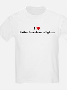 I Love Native American religi T-Shirt