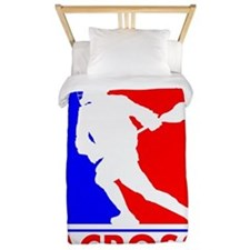 Lacrosse League Logo Twin Duvet