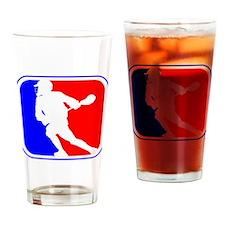 Lacrosse League Logo Drinking Glass