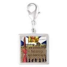 Women's Heavy Athletics Silver Square Charm