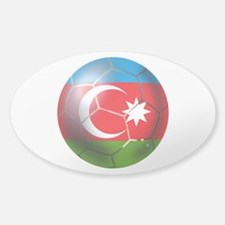 Azerbaijan Soccer Sticker (Oval)